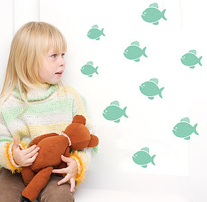 Piranha Fish Wall Stickers - home accessories