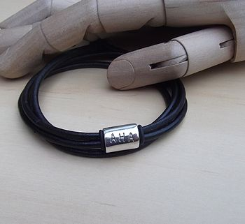 Silversmith Personalised Leather Wrap