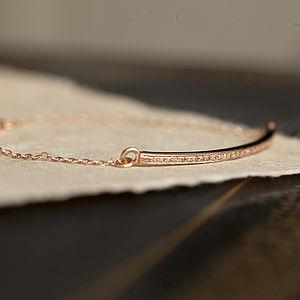 Pave Diamond Rose Gold Bar Bracelet - bracelets & bangles