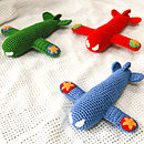 Handmade Large Crochet Airplane Rattle