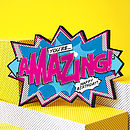 'Amazing!' Comic Cracker Card