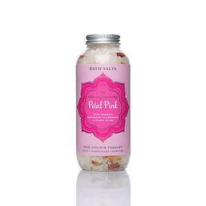 Petal Pink Bath Salts - bathroom
