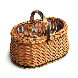 Vintage Style Wicker Basket - log baskets