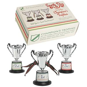 Sports Day Champions Trophies - games