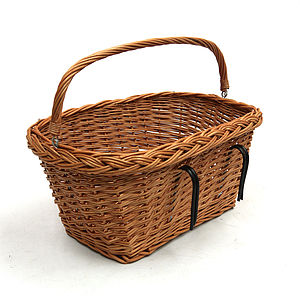 Large Bicycle Wicker Basket - bedroom