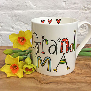 Grandma China Mug - gifts for grandparents
