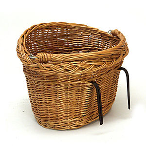 Wicker Bicycle Basket With Handle - living room