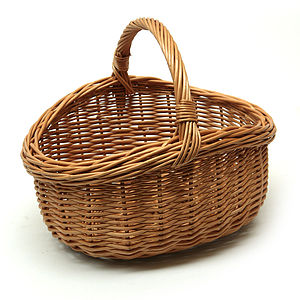 Wicker Carry Basket - bedroom