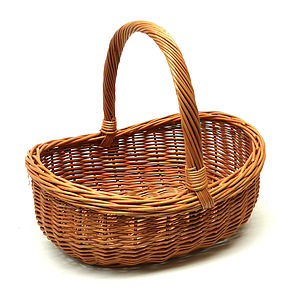 Wicker Basket - living room