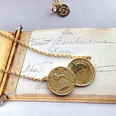 Double Sixpence Coin Necklace - trends
