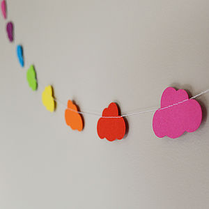 Rainbow Clouds Paper Garland - baby's room