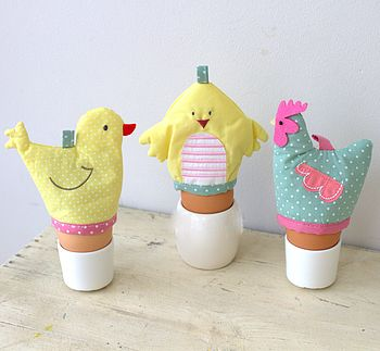 Easter Hen And Chick Egg Cosy