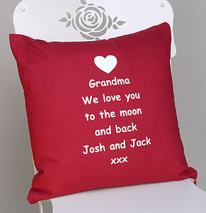 Personalised 'To The Moon And Back' Cushion - cushions