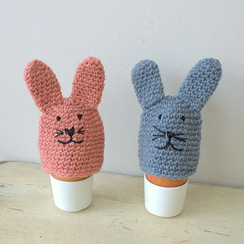 Knitted Easter Bunny Egg Cosy