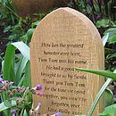 Personalised European Oak Pet Gravestone