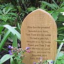 Personalised European Oak Pet Gravestone