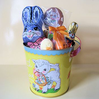 Easter Bucket Filled With Chocolates