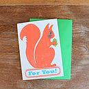 'Nuts For You' Card
