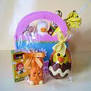 Easter Bag Filled With Chocolates