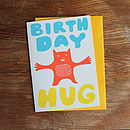 'Birthday Hug' Birthday Card