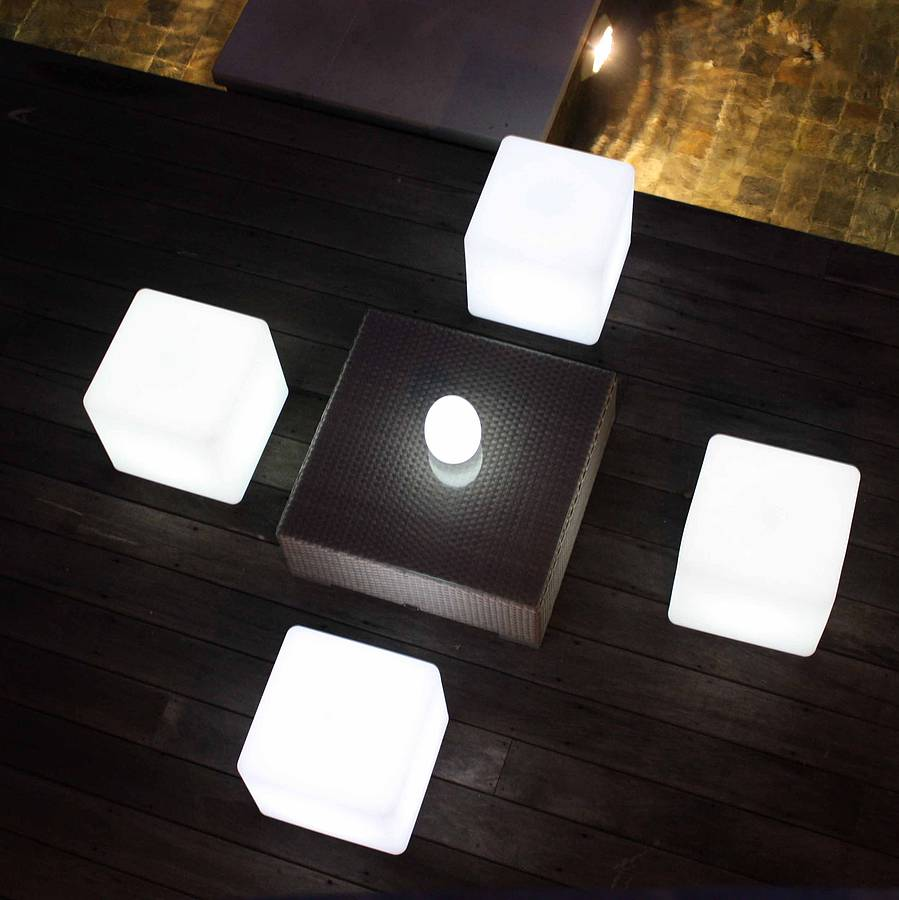 Why Does Light Travel So Fast: Colour Changing Outdoor Light Cube By Jusi Colour