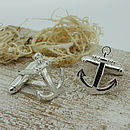Silver Anchor Shaped Cufflinks