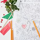 Colour In Christmas Crackers X6
