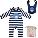 Drink More Milk Baby Playsuit With Optional Giftset