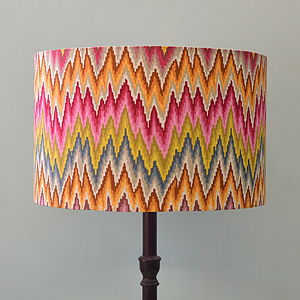 Handmade Flame Stripe Lampshade - living room