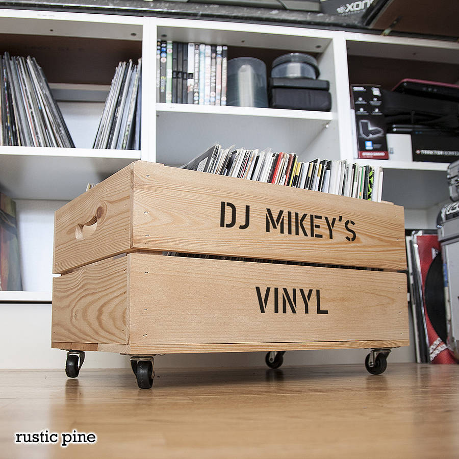 Personalised Record Storage Crate By Plantabox