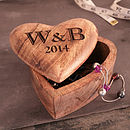 Personalised Fifth Anniversary Gift Heart Box