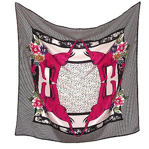 Lulu Square Silk Scarf - scarves