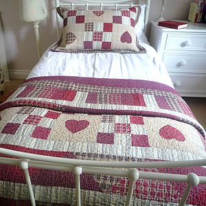 Highland Heart Patchwork Quilt - blankets & throws