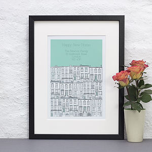 Personalised Townhouses New Home Print - posters & prints
