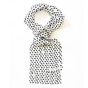 Animal Polkadot Mini Silk Scarf