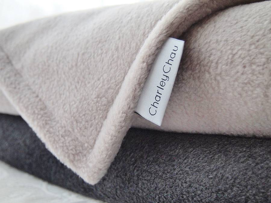 luxury double fleece blankets and throws by charley chau