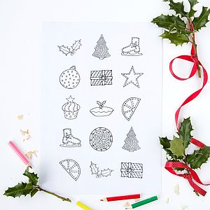 Colour In Christmas Stickers