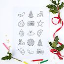 Personalised Colour In Christmas Tree Poster