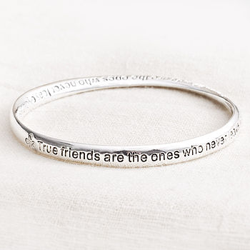 'True Friends' Message Bracelet
