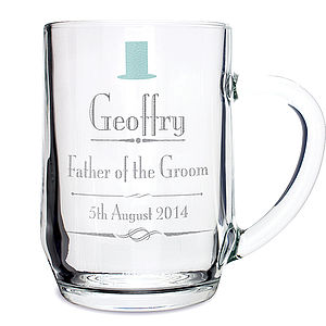 Personalised Wedding Tankard - glassware