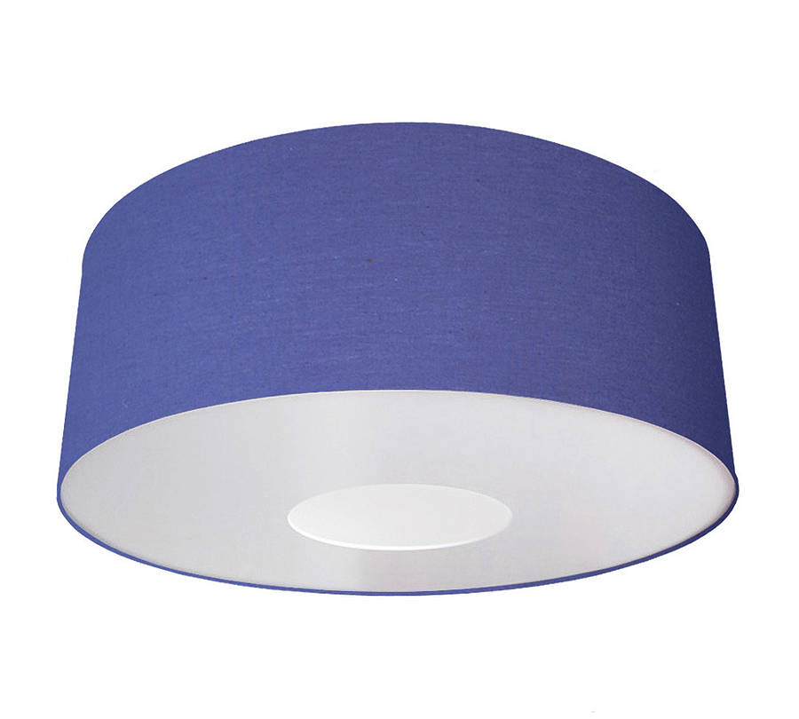 Oversize large ceiling pendant shade classic colours by quirk blue aloadofball