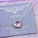 1 Rose Pink Quartz (Pale Pink heart shape pendant)