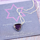 7 Purple Amethyst Heart (Purple heart shape)