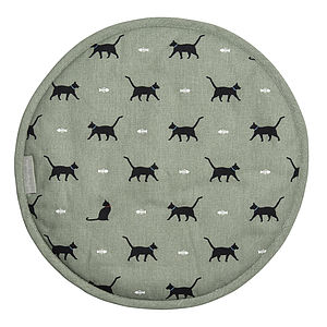 Set Of Two Cat Round Hob Covers