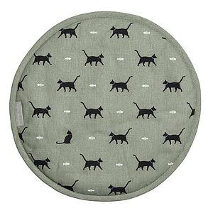 Cat Round Hob Cover - kitchen accessories