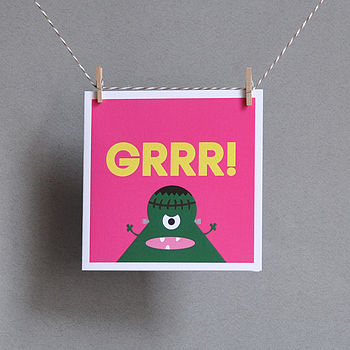 'Grrr!' Greeting Card