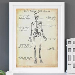 Personalised Skeleton Anatomy Print