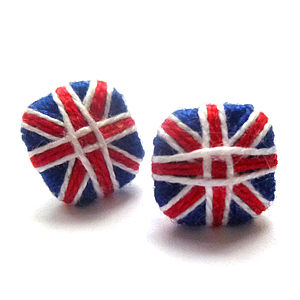 Cotton Union Jack Earrings - women's sale