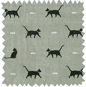 Cat Fabric By The Metre - throws, blankets & fabric