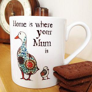 'Home is where your mum is' Mug - mugs